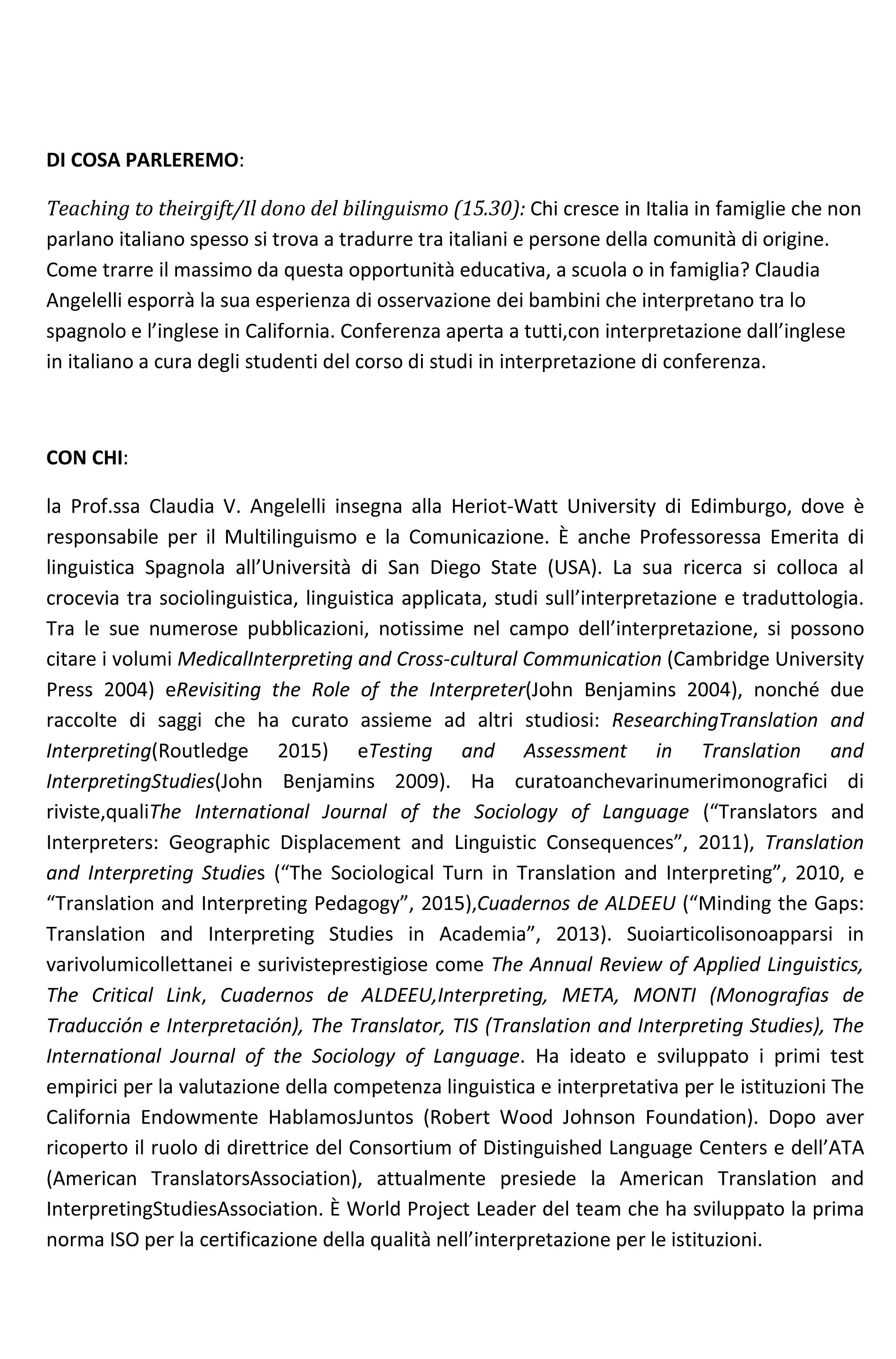 conferenza Angelelli
